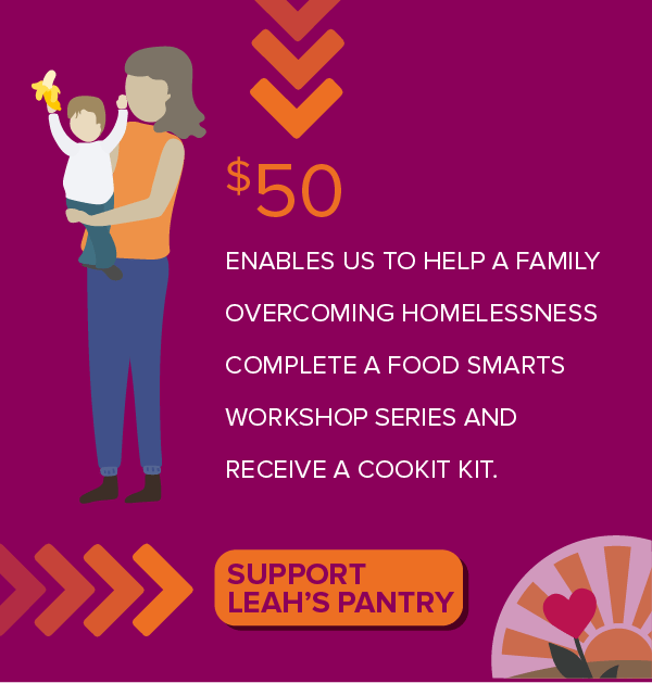Support Leah's Pantry with a $50 donation