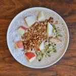 Apple Oatmeal Smoothie Bowl by Leah's Plate