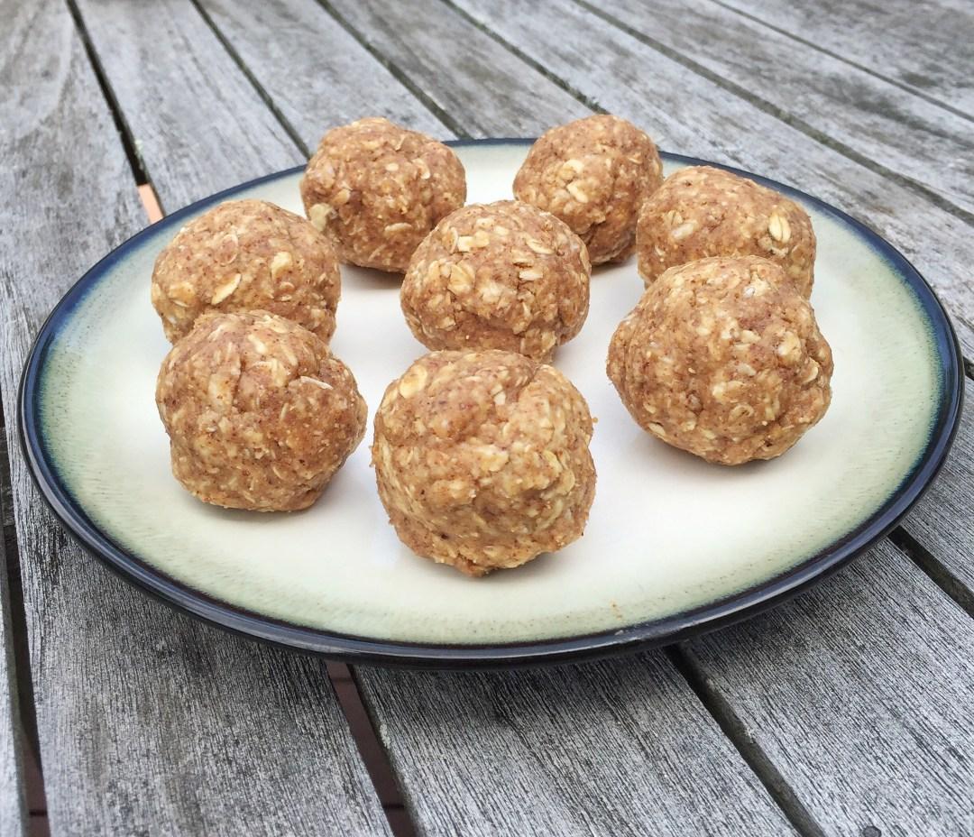 No Bake Almond Butter Oat Energy Balls Leahs Plate2 - No Bake Almond Butter Oat Energy Balls