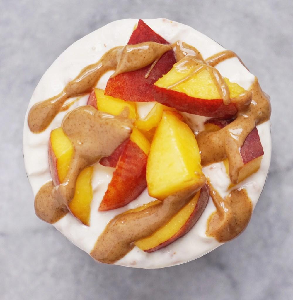 Peachy Oat Yogurt Parfait by Leahs Plate5 1000x1024 - Peach Oat Yogurt Parfait