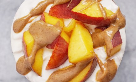 Peach Oat Yogurt Parfait