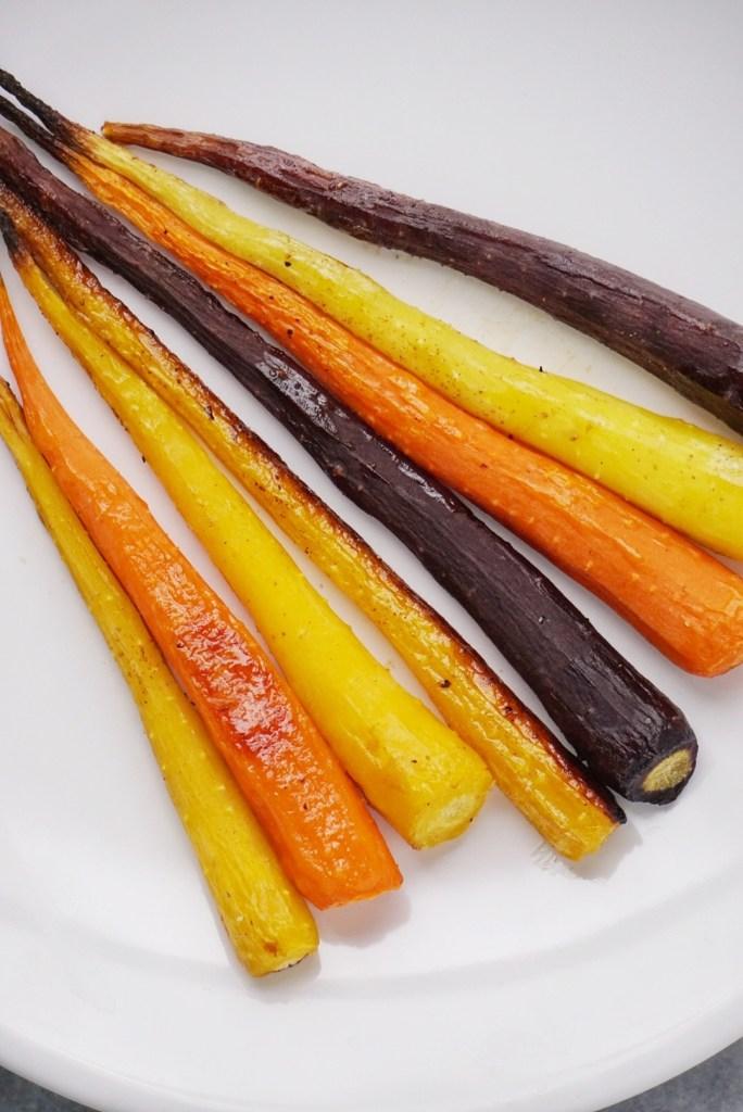 Roasted Rainbow Carrots with a Maple Tahini Sauce3 684x1024 - Roasted Rainbow Carrots with a Maple Tahini Sauce