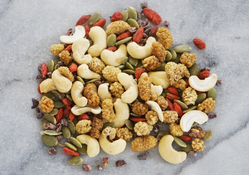 Superfood Trail Mix by Leahs Plate2 1024x719 - Superfood Trail Mix