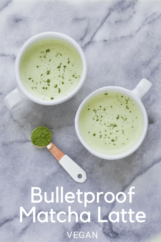 Bulletproof Vegan Matcha Latte 683x1024 - Chatting about Ceremonial Matcha vs Culinary Matcha + A Recipe Using Each!