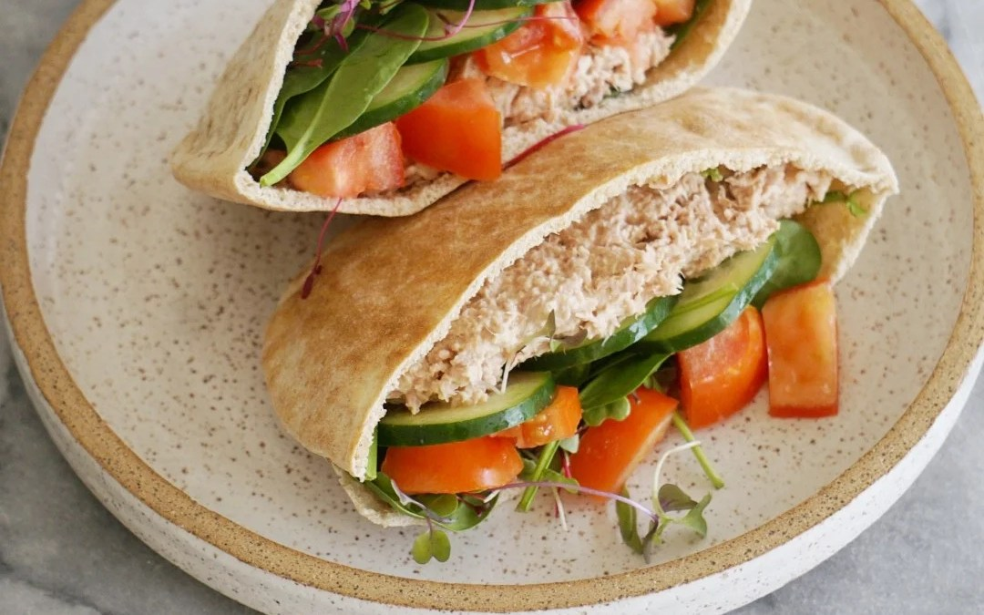Healthy Tuna Salad Pita