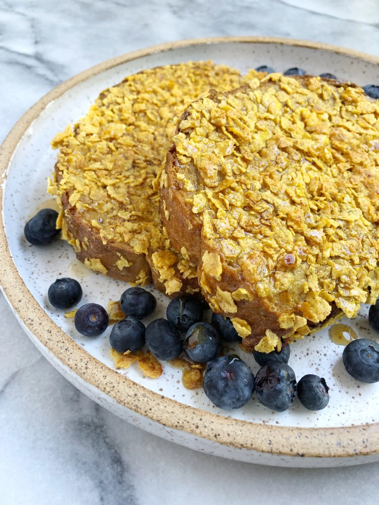 Healthy Cornflake Crusted French Toast 4 768x1024 - Healthy Cornflake-Crusted French Toast