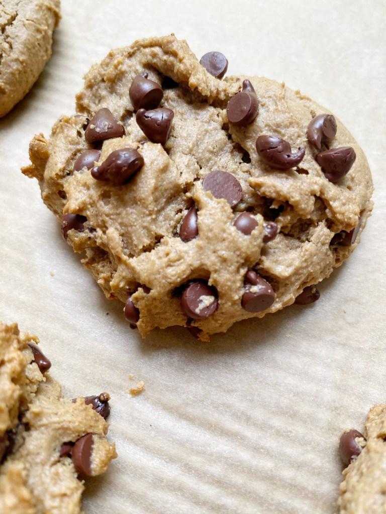 vegan gf choc chip cookie2 768x1024 - Vegan + Gluten-Free Chocolate Chip Cookies