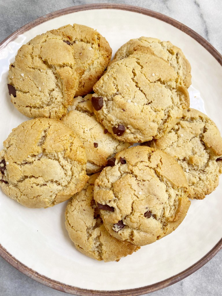 Maple Sea Salt Chocolate Chip Cookies2 768x1024 - The Most AMAZING Vegan Maple Sea Salt Chocolate Chip Cookies!!