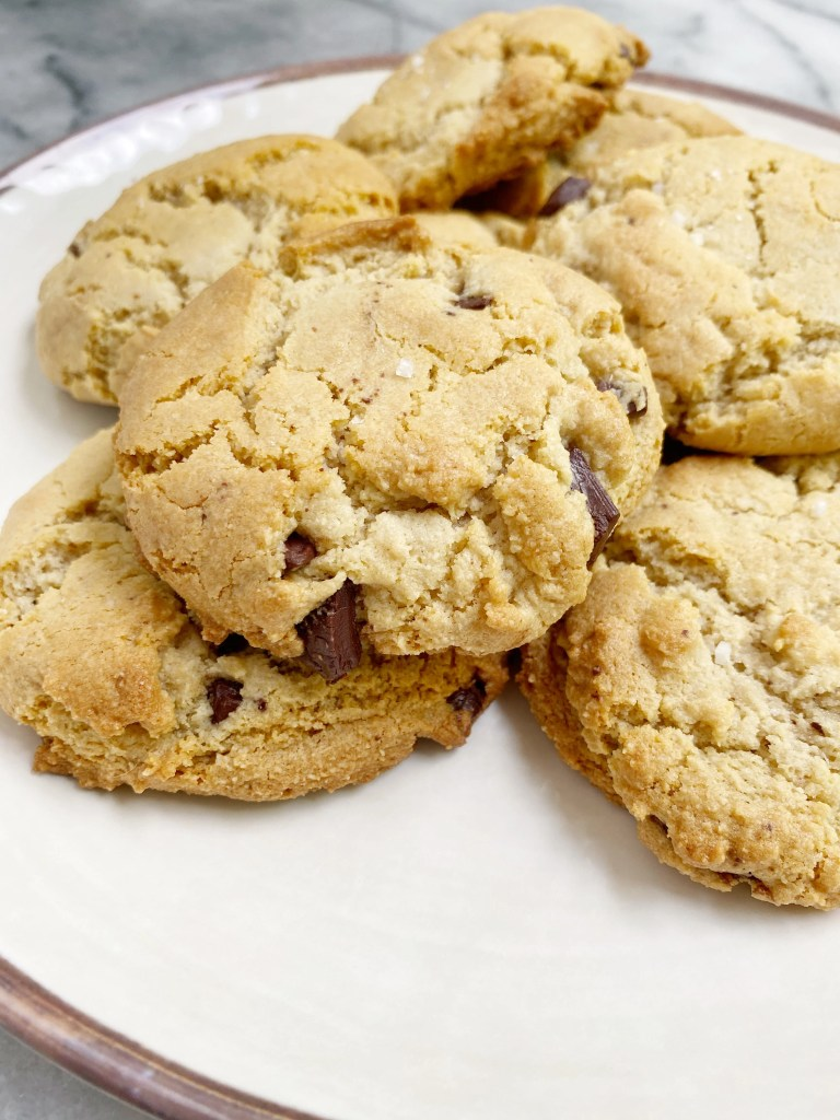 Maple Sea Salt Chocolate Chip Cookies4 768x1024 - The Most AMAZING Vegan Maple Sea Salt Chocolate Chip Cookies!!