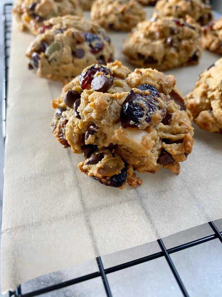 trail mix cookies 768x1024 - Gluten-Free Trail Mix Breakfast Cookies!!