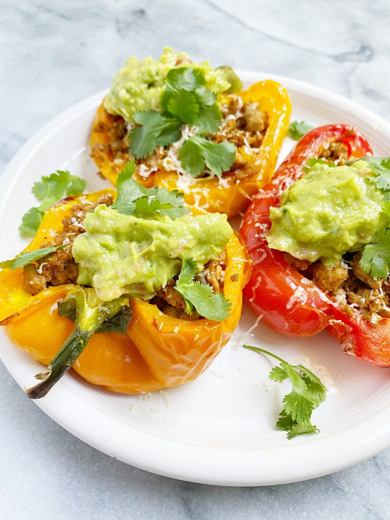 taco stuffed peppers 768x1024 - Healthy Taco Meat Stuffed Peppers (gluten-free & grain-free)