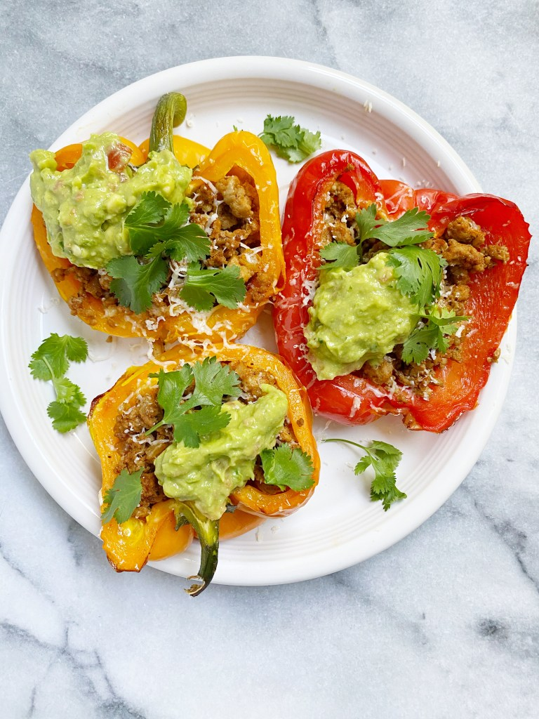 taco stuffed peppers2 768x1024 - Healthy Taco Meat Stuffed Peppers (gluten-free & grain-free)