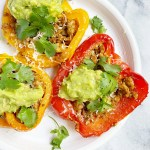 taco stuffed peppers4 scaled - Healthy Taco Meat Stuffed Peppers (gluten-free & grain-free)