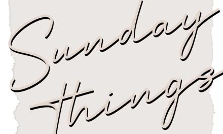 Sunday Things 1 - Recipes