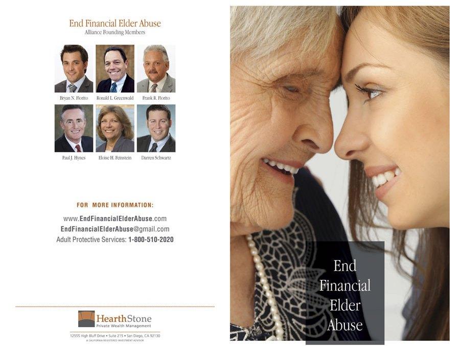End Financial Elder Abuse brochure outside