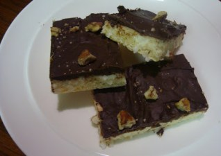 Scrumptious Sunday- chocolate coconut bars