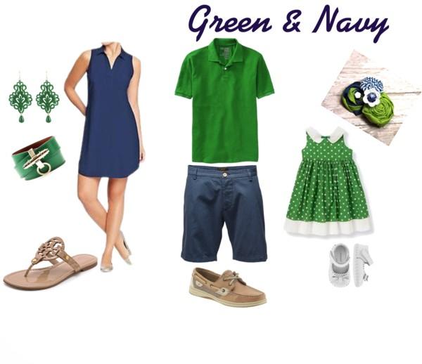 Green & Navy