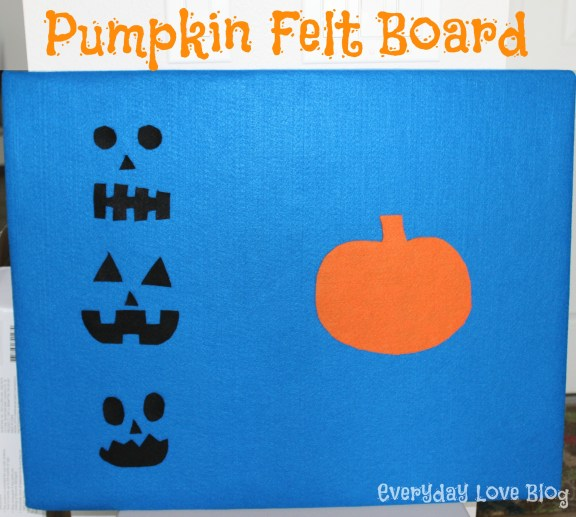 pumpkin felt board