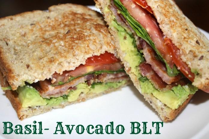basil avocado blt