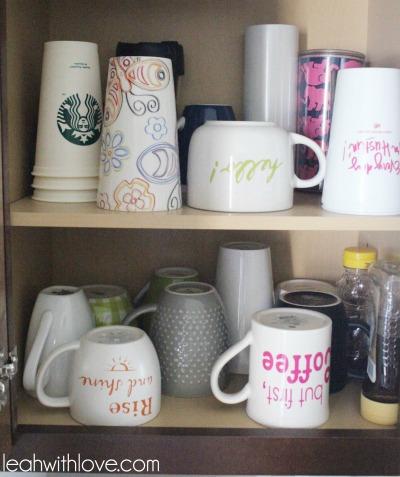 coffee mug organization