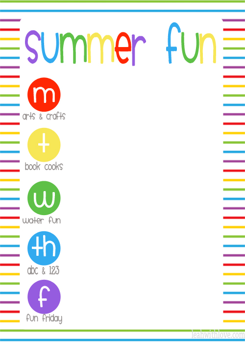 summer fun printable
