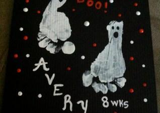 Halloween Handprint Art