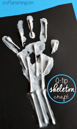 handprint-skeleton-q-tip-craft-for-kids