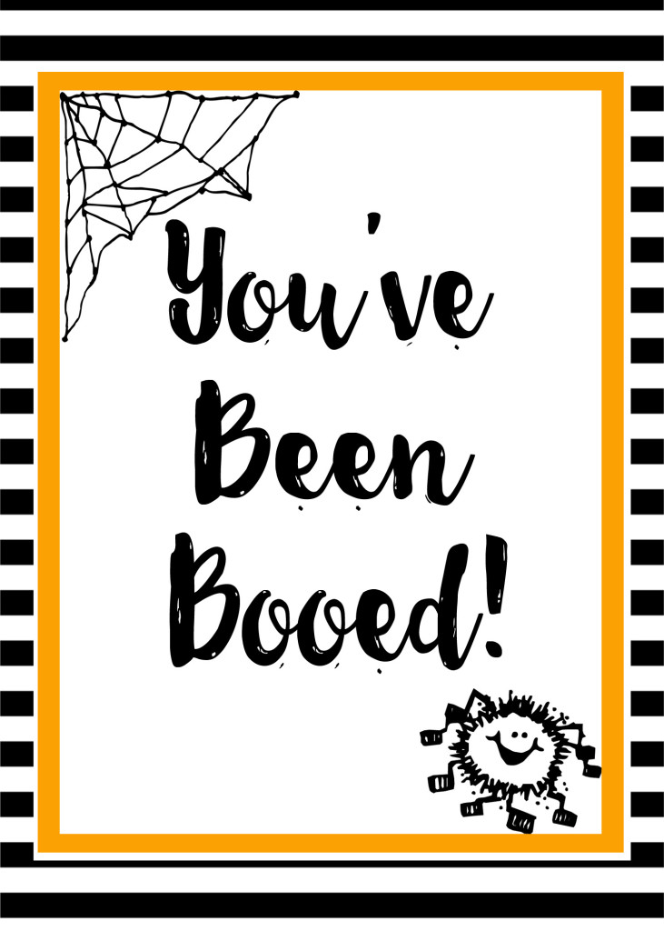 graphic regarding You've Been Booed Free Printable identify Youve Been Booed (free of charge printable) - Leah With Delight in