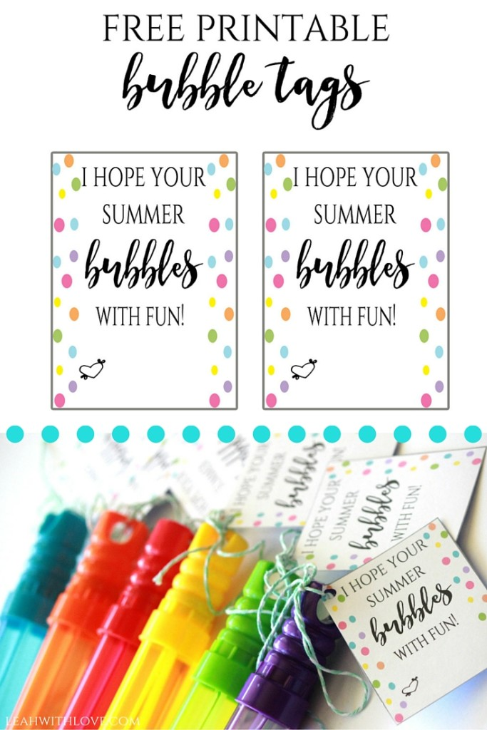 Free Printable Bubble Tags