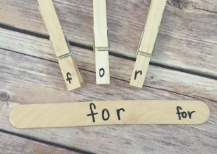 Clothespin Sight Word Fun