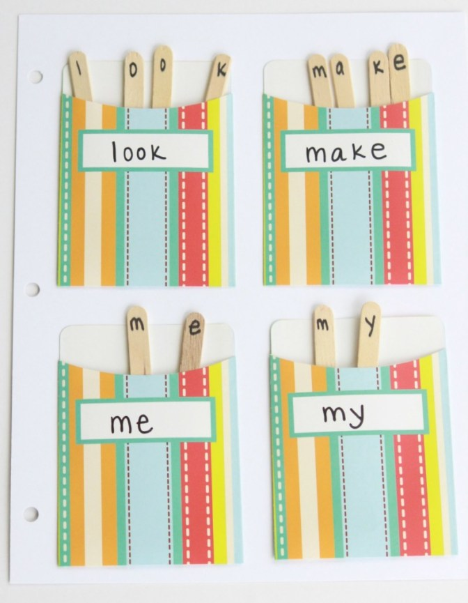 sight word pockets 2