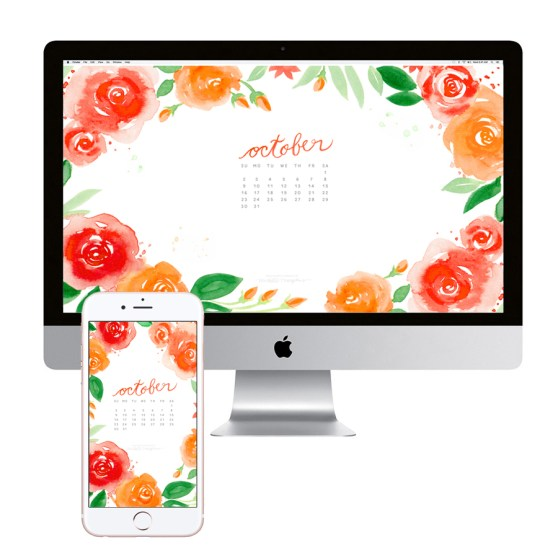 october-calendar-flowers-desktop-wallpaper-download