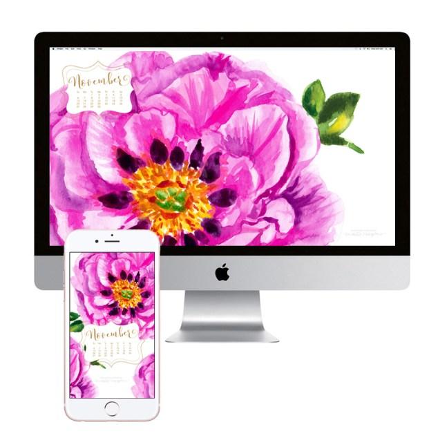 november-calendar-flowers-desktop-wallpaper-download