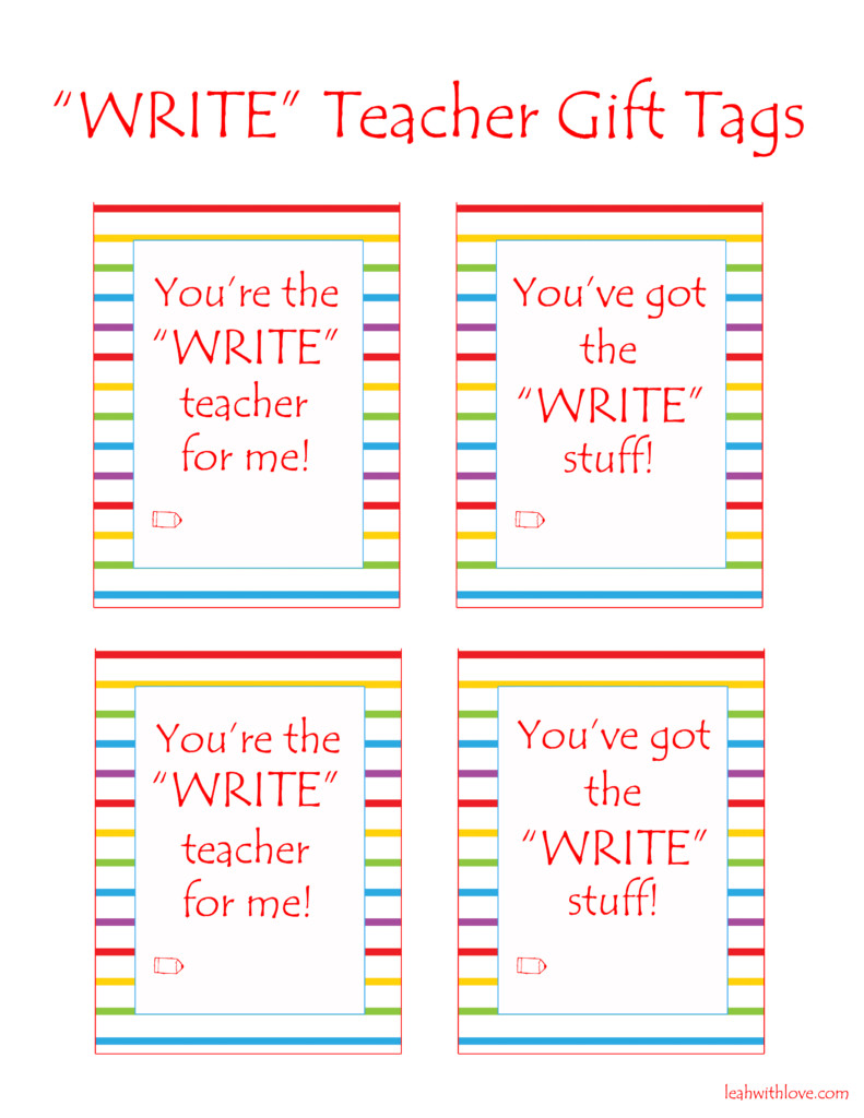 Write Teacher Gift