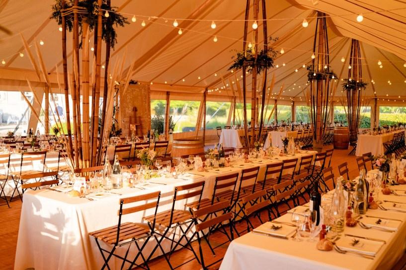 Tente de réception avec Bambou