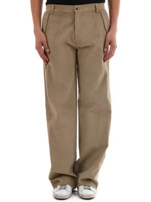 Trousers beige velvet