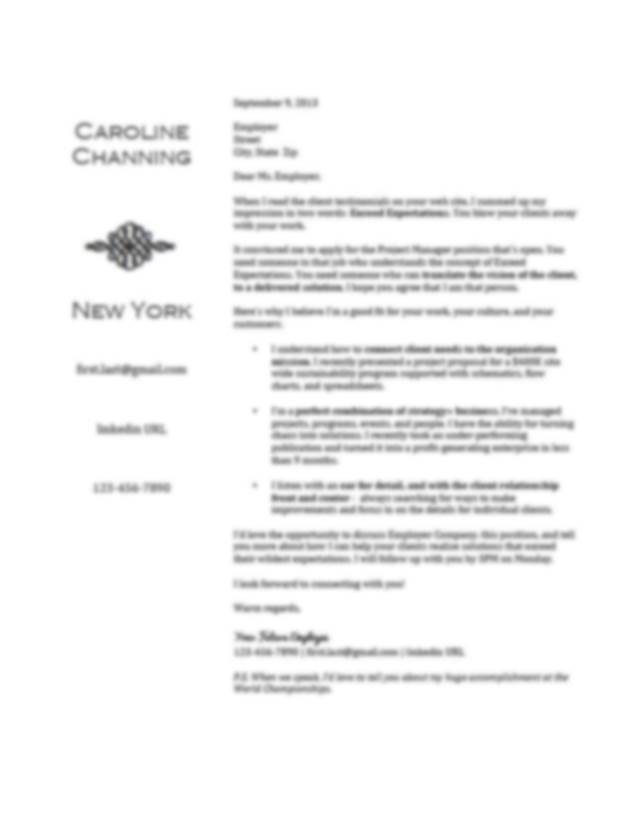 Creating A Great Resume Cover Letter. How To Create A Great Resume