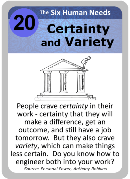 Leadership Card 020 Certainty Variety Lean Cx Ease Of Use