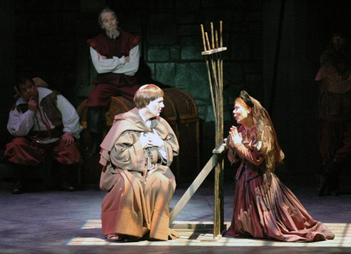 Leandra Ramm picture, wearing a brown dress and a hat in a play Take Four