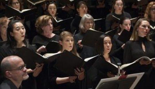 The San Francisco Symphony Chorus with Chorus Director Ragnar Bohlin, in rehearsal at Davies Symphony Hall on Tuesday, May 12, 2015.