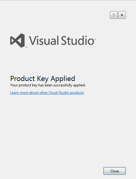 product key applied
