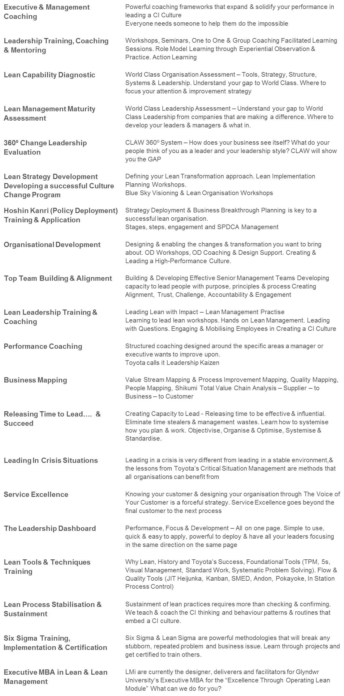 Lean Management Services
