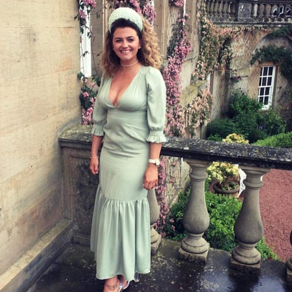 Made to match Crown Halo fascinator in Sage green and Pearl Wedding Guest- hire collection