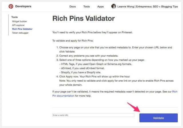 rich-pins-validator-seo