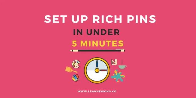 SET UP RICH PINS