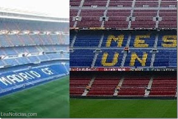 estadios del real madrid y barcelona