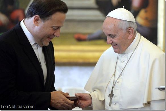 juan carlos varela y papa francisco