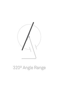 320 angle, ipad stand locks