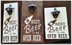 bottle opener sign