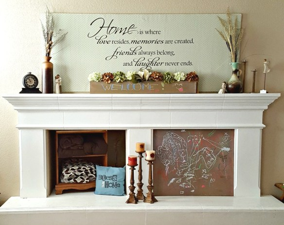 diy mantel fireplace makeover